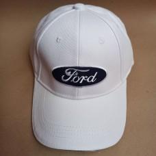 Кепка бейсболка Форд белая 100% хлопок
